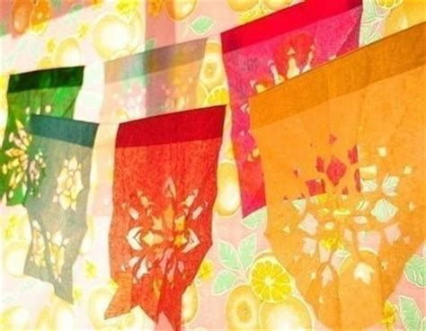 How To Make Mexican Paper Banners - mexican tissue paper cut out banners papercraft juxtapost