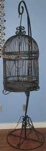 vintage wrought bird cage birdcage with stand 6ft