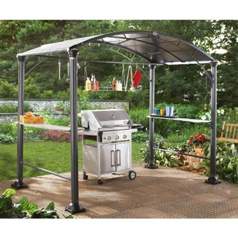 cheap eclipse backyard grill center black garden gazebo