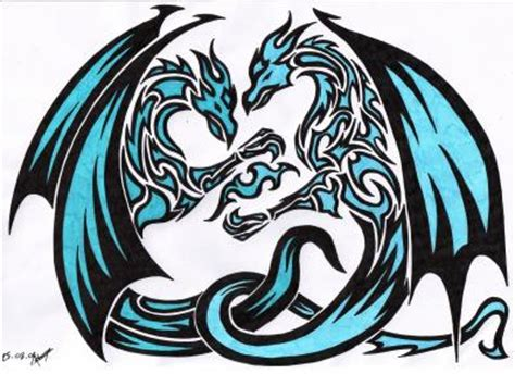 dragon tribal mes dessins