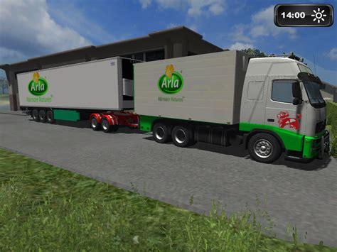 arla truck  trailer pack  mod farming simulator uk