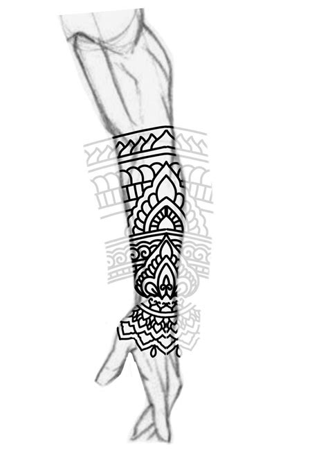line tattoo designs blackwork forearm sleeve mandala ornamental bold lines
