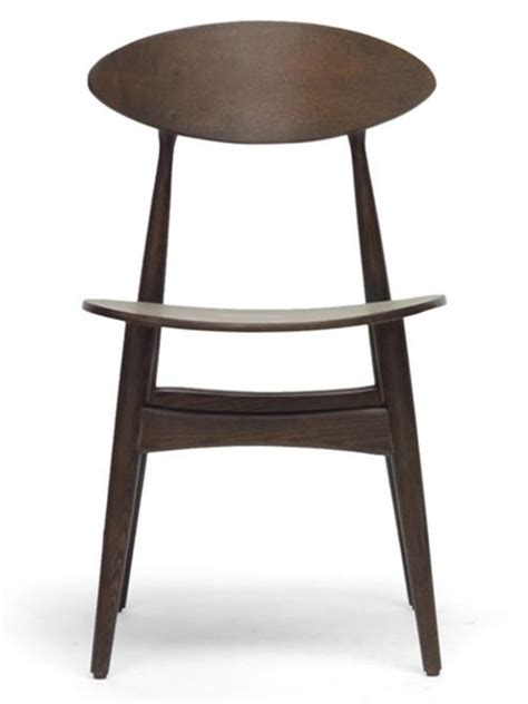 oval wood dining chair 2 set modern furniture