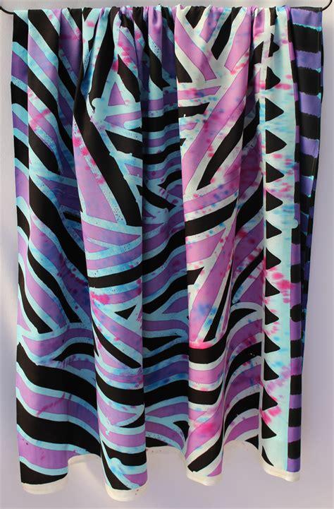 Batik Black Abstract batik thai sarong pareo wrap handpainted fabric