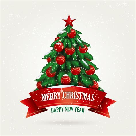 christmas tree design vector free vector graphic download