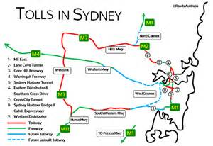 toll roads map sydney s guide to toll roads roads australia
