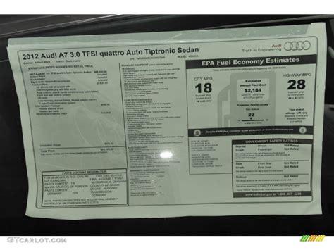 Audi Window Sticker