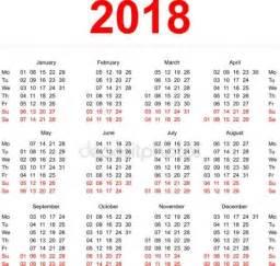 Peru Calendã 2018 2018 Stock Vectors Royalty Free 2018 Illustrations