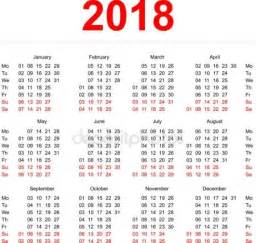 Korea Calendrier 2018 2018 Stock Vectors Royalty Free 2018 Illustrations