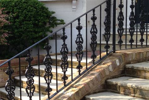 cast wrought iron railings spirals and