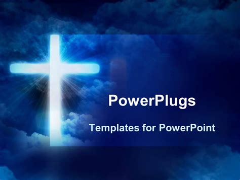 powerpoint themes 2010 religion powerpoint template glowing cross in front of sky