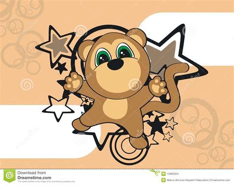 wallpaper cartoon monkey monkey cartoon wallpaper stock illustration image of