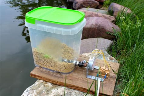 How To Make Fish Feeder automatic pet feeder