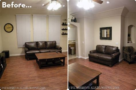 The Living Room Makeover Before After A High Style Low Cost Living Room