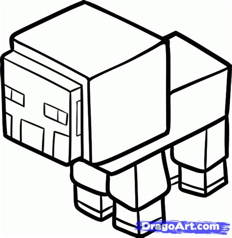 minecraft coloring pages chicken how to draw a minecraft sheep step by step video game