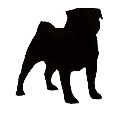 what are pugs used for pug outline clipart best