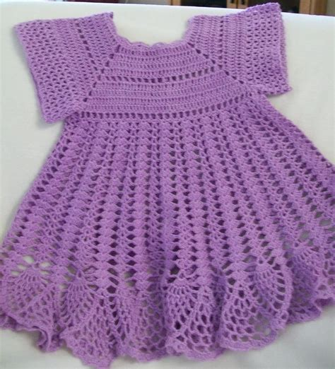 Handmade Crochet Baby Dress - crochet baby dress baby dress lavender handmade
