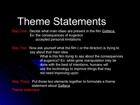 themes of identity in film gattaca essay writing power point