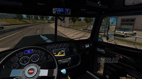 peterbilt 389 interior lights peterbilt 389 black interior ets 2 mods