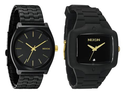 nixon black and gold watches hype