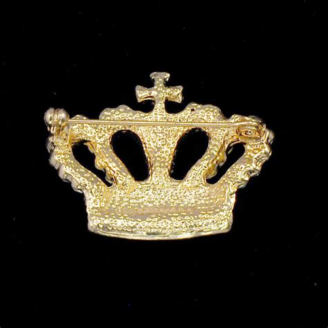 Crown Brooch gold crown brooch