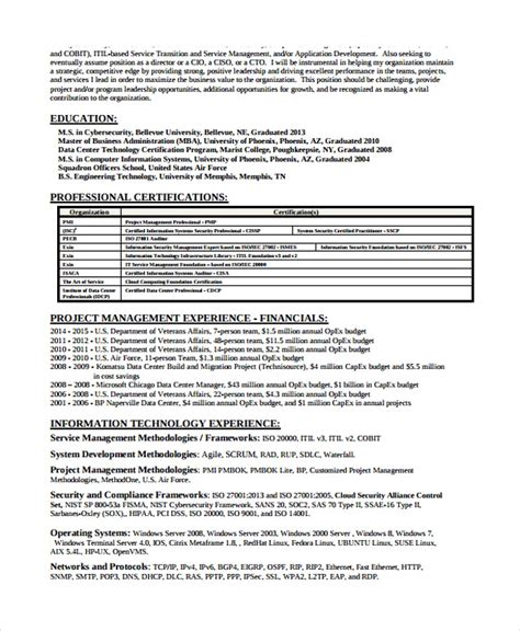 Information Security Resume Template
