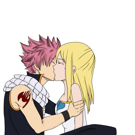 fairy tail natsu and lucy kiss by natsu9555 on deviantart