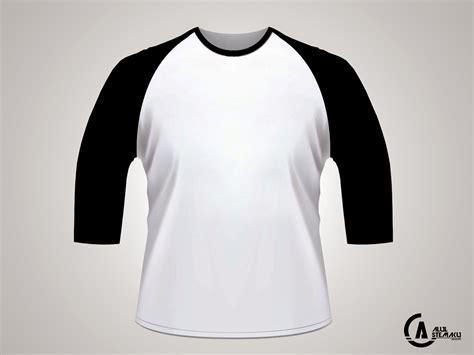 Tshirt Kaos 4 gambar desain kaos lengan 3 4 psd alul stemaku