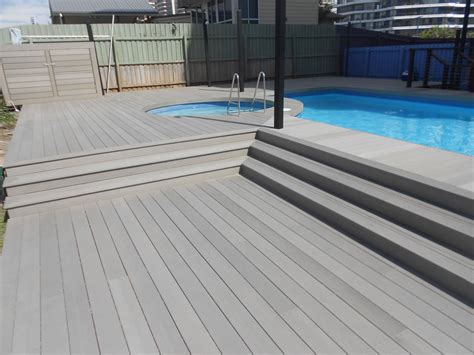synthetic wood flooring composite wood decking pool home ideas collection