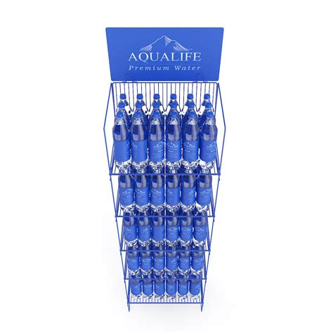 rack with water bottles 3d model cgtrader