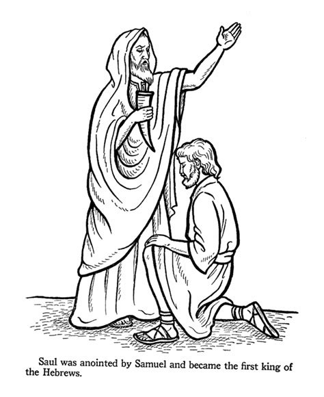 coloring page david becomes king bible coloring pages king david az coloring pages