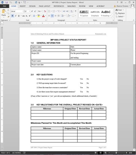 word project report template status report template resume trakore document templates