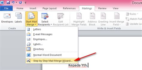 membuat mail merge di word 2013 cara membuat mail merge di ms office word 2007 2010