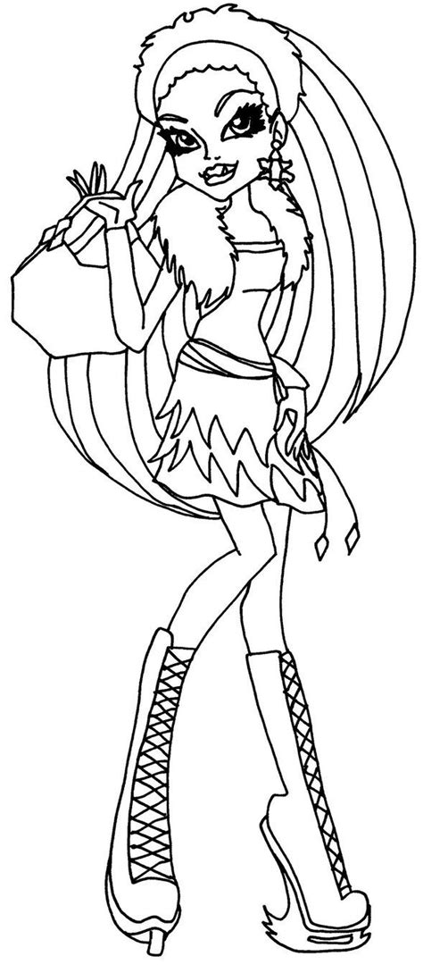 coloriage monster venus