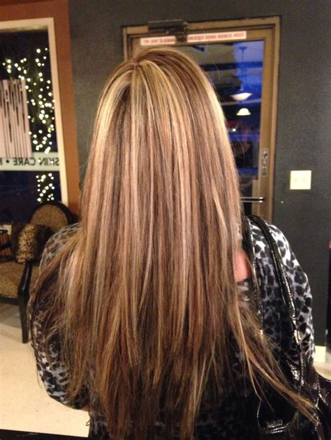 where to place foils in hair dark brown and blonde foils hair pinterest blondes