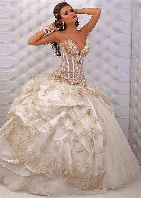 beautiful white wedding dresses beautiful white and gold wedding dresses ideas 16