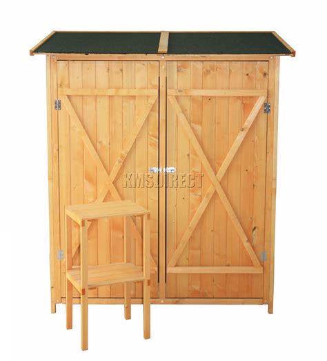 Wood Tool Sheds by Foxhunter Patio Outdoor Garden Tool Shed Wood Tool Storage