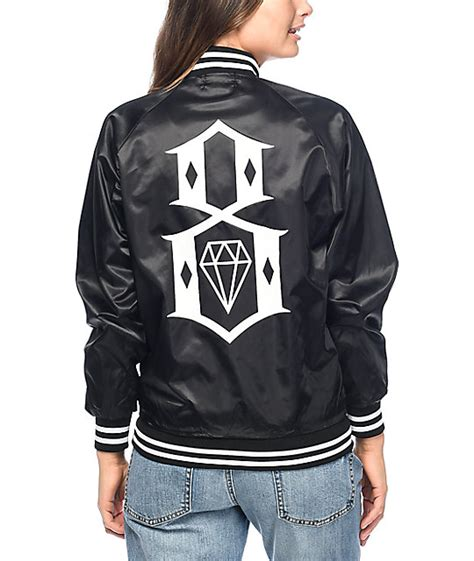 Sweater Rebel Eight Rebel8 Eight Or Die Black Bomber Jacket At Zumiez Pdp