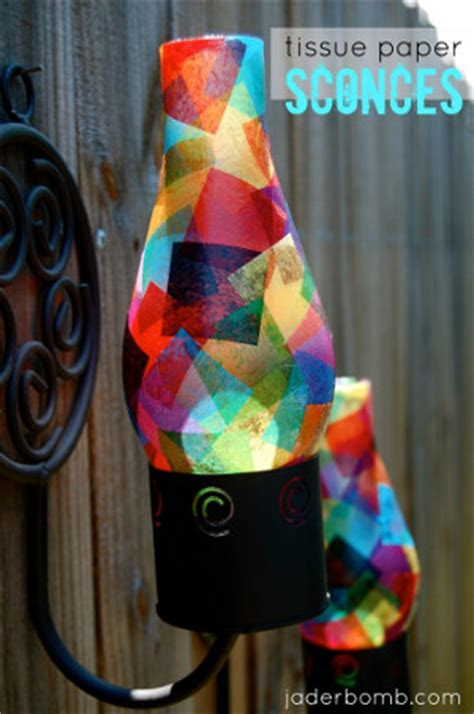 How To Make Your Own Tissue Paper - make your own tissue paper sconce favecrafts