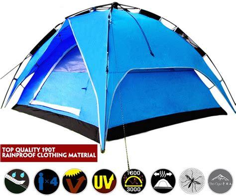 Tenda Cing Windproof Waterproof anti wind bunk cing tent tenda cing blue jakartanotebook