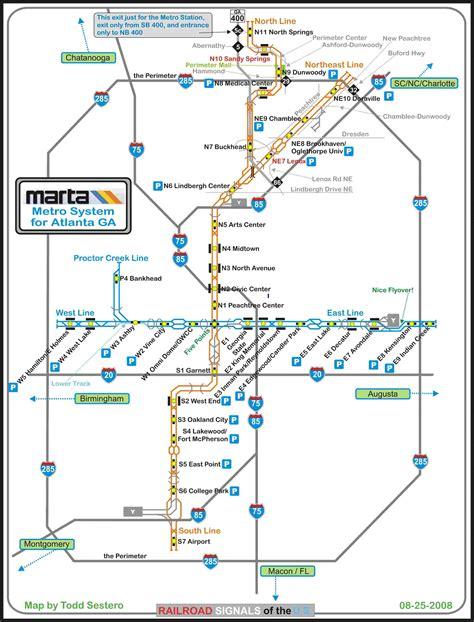marta rail map marta metro
