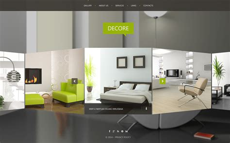 Interior Design Website Template 51116 Interior Website Templates