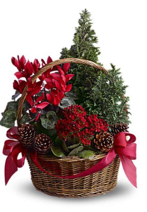 christina s flower shop christmas tree basket