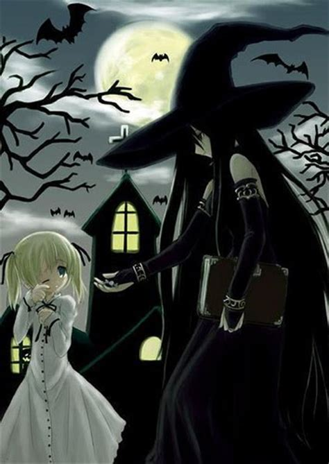 anime halloween witch   Anime Wallpaper