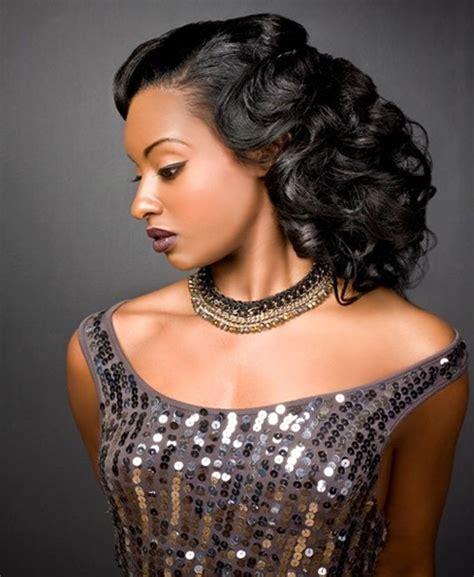 Homecoming Hairstyles African American Hair   prom curly hairstyles for african americans full dose
