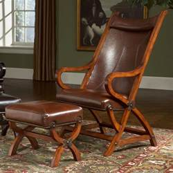 Leather Accent Chairs With Ottoman Furniture Leather Club Chair And Ottoman Upholstered Accent Hastac 2011