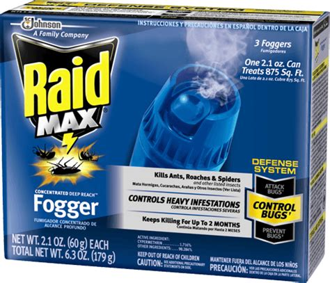 raid bed bug fogger raid max 174 concentrated deep reach 162 fogger products raid 174 brand sc johnson
