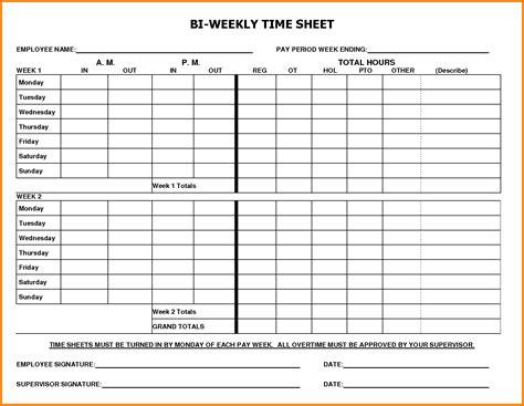 bi weekly timesheet resumess franklinfire co
