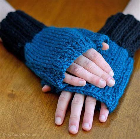 easy knit fingerless gloves easy knit pattern fingerless gloves