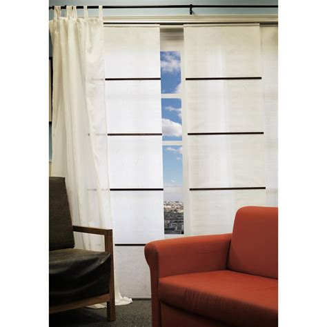 curtain panel system chicology 174 sado white double rail sliding panel system